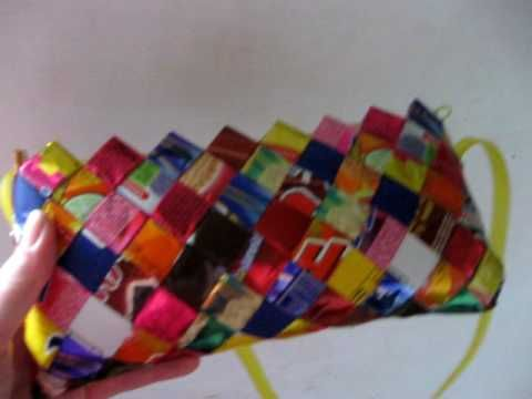 Eco-bag - A bag made out of Candy Wrappers.