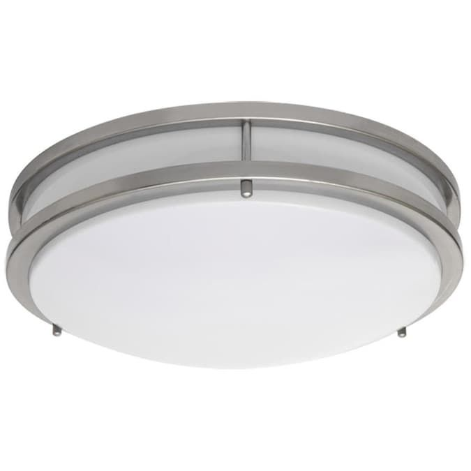 Amax Lighting 14 In Nickel Modern Contemporary Flush Mount Light Energy Star Lowes Com In 2020 Ceiling Lights Led Ceiling Lights Led Flush Mount
