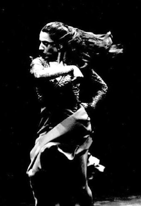 "Carmen Amaya  was a flamenco dancer and singer, of Romani origin, born in the Somorrostro slum of Barcelona, Spain, Vila Olímpica nowadays. She has been called ""the greatest Spanish gypsy dancer of her generation""."