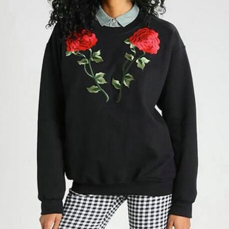 ... Off-White rose-embroidered sweatshirt WHITE Women Clothing Jumpers,off  white color paint ...