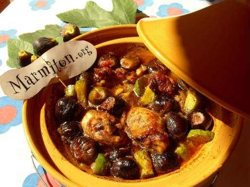 Tajine de poulet aux figues - Recette de cuisine Marmiton : une recette