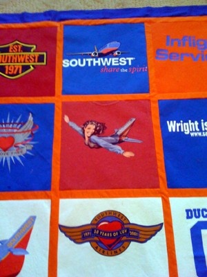 Southwest Airlines Quilt