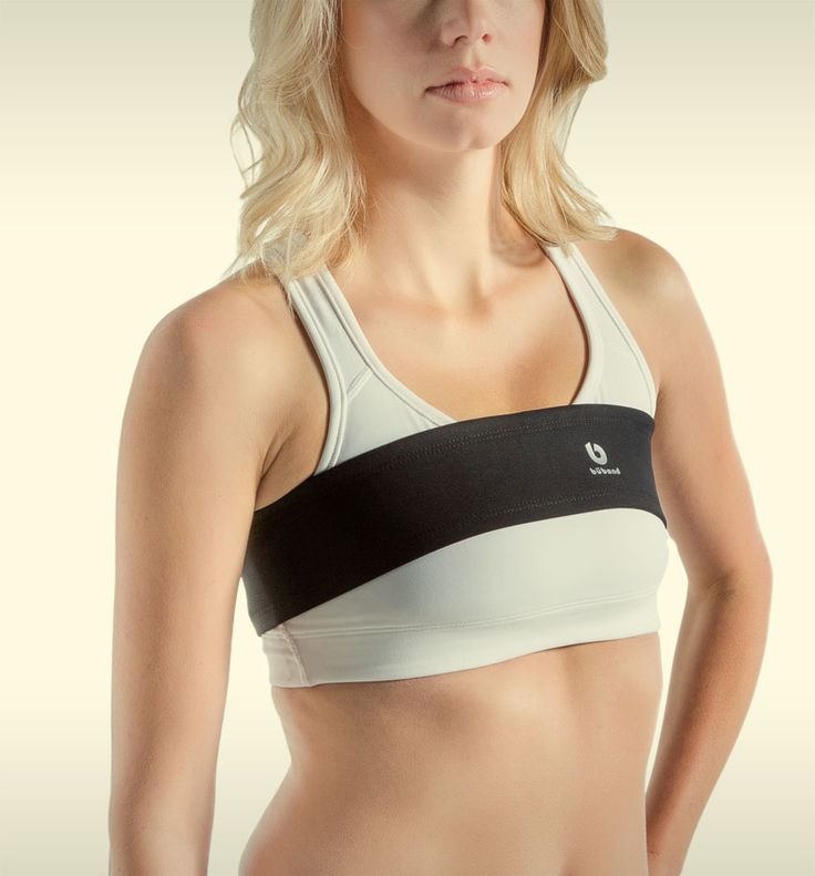 """Būband prevents breast bounce while exercising. 3"""" elasticized band covered in soft, breathable fabric. Available in sizes XS-XL. Made in Calgary, Canada."""