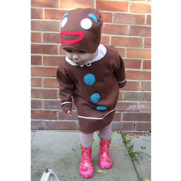 handmade Gingerbread Man costume for baby and toddler. $74.00, via Etsy.