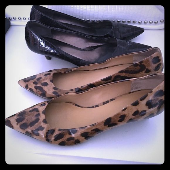 Two pair of Nine West kitten heel pumps - size 12 | Kitten Heels ...