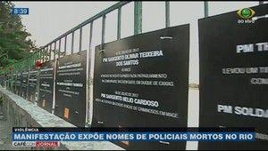 Galdinosaqua no Rio de Janeiro: Manifestação expõe nomes de policiais mortos no Ri...