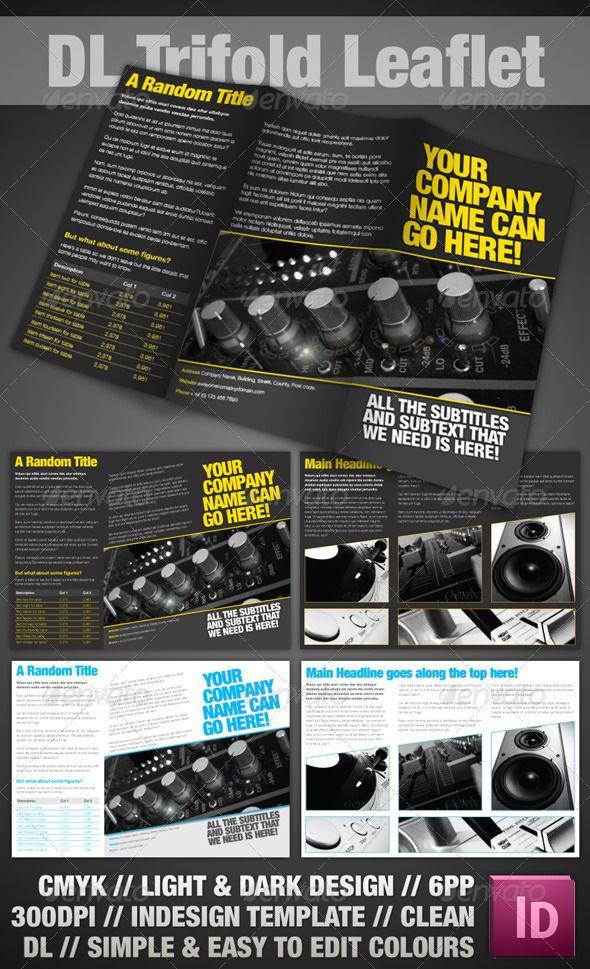 trifold leaflet indesign for sale leaflets and brochures. Black Bedroom Furniture Sets. Home Design Ideas