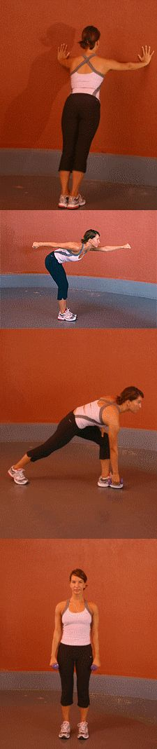 Exercices Épaules : Pompes verticales - Boxeuse - Mouvement vertical avec haltère - Élévations latérales avec haltères http://www.aujourdhui.com/exercise/exercices-epaules.asp