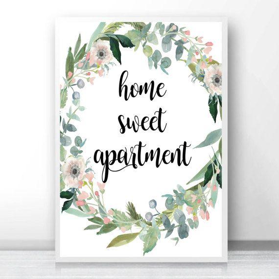 Apartamento dulce hogar, regalo apartamento, primer regalo apartamento, regalo Apartamento floral, nueva decoración del apartamento, decorar apartamento, apartamento