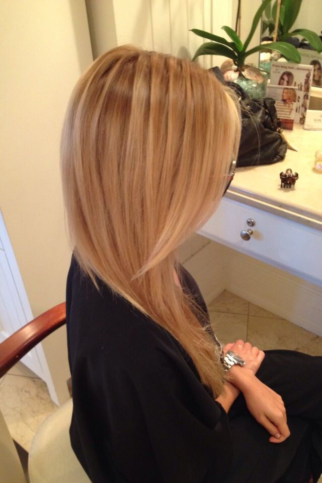 blonde hair with great dimension