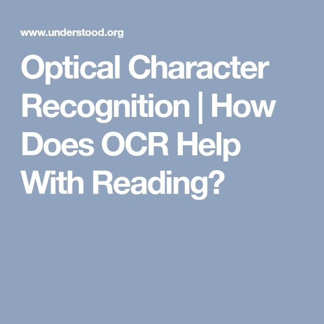 Optical Character Recognition | How Does OCR Help With Reading?