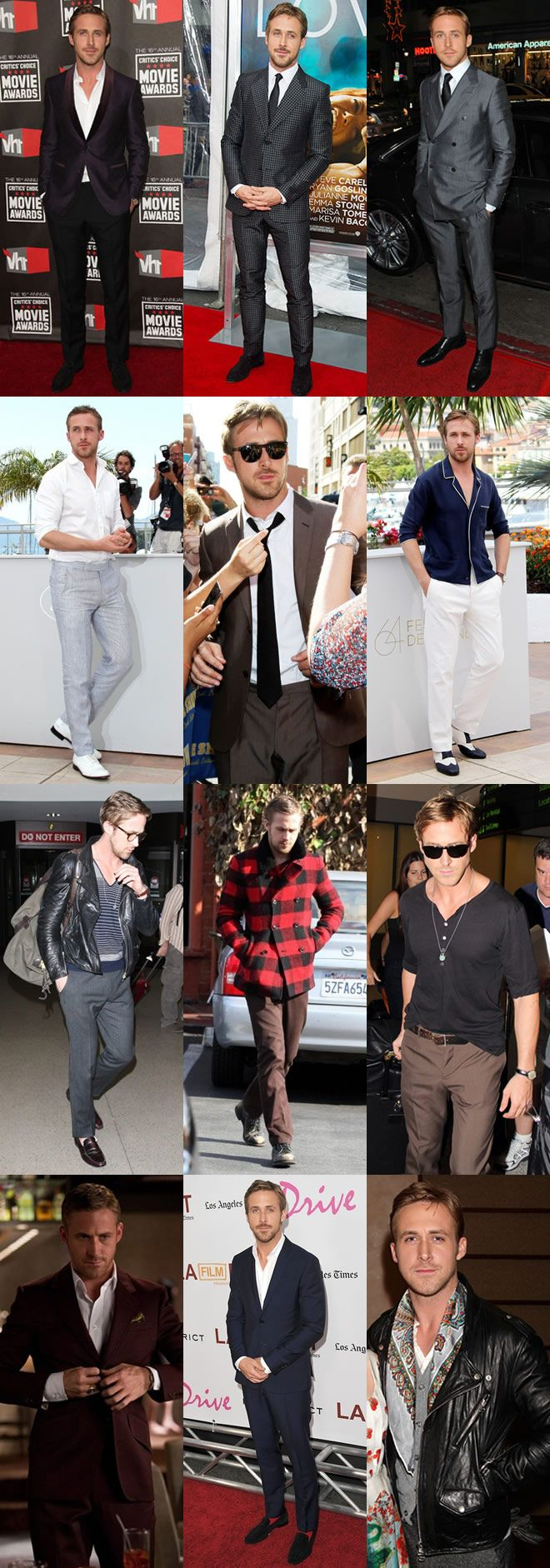 Men's Style Icon: Ryan Gosling Style Look Book