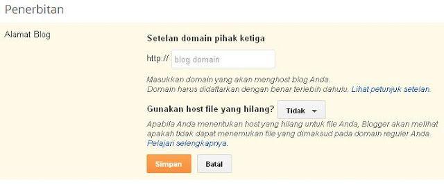 Cara Membuat Blogspot Menjadi Website