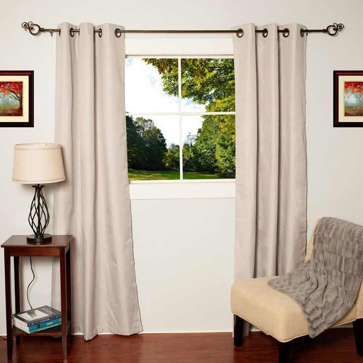 Faux Silk Blackout Thermal Drape Panels (Set of 2) - Overstock™ Shopping - Great Deals on Curtains