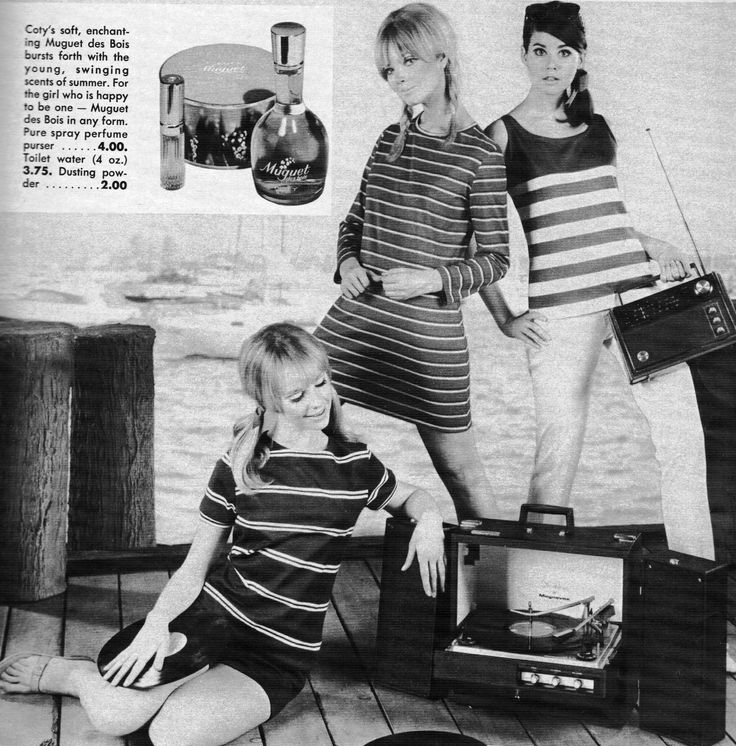 Seventeen May 1967.  Cay Sanderson, Paula Felton and Colleen Corby.