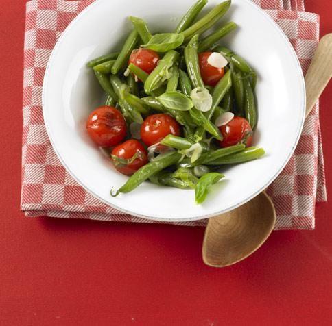 Bohnen-Tomaten-Gemüse Rezept - [ESSEN UND TRINKEN]