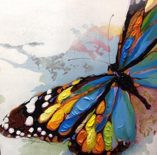 Dipinta A Mano Pittura Astratta Grado Superiore A Olio Animale Su Tela Bella Farfalla Di Arte La Decorazione Domestica