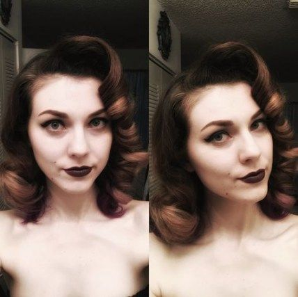 48 Super ideas for vintage hairstyles curls pinup roller set