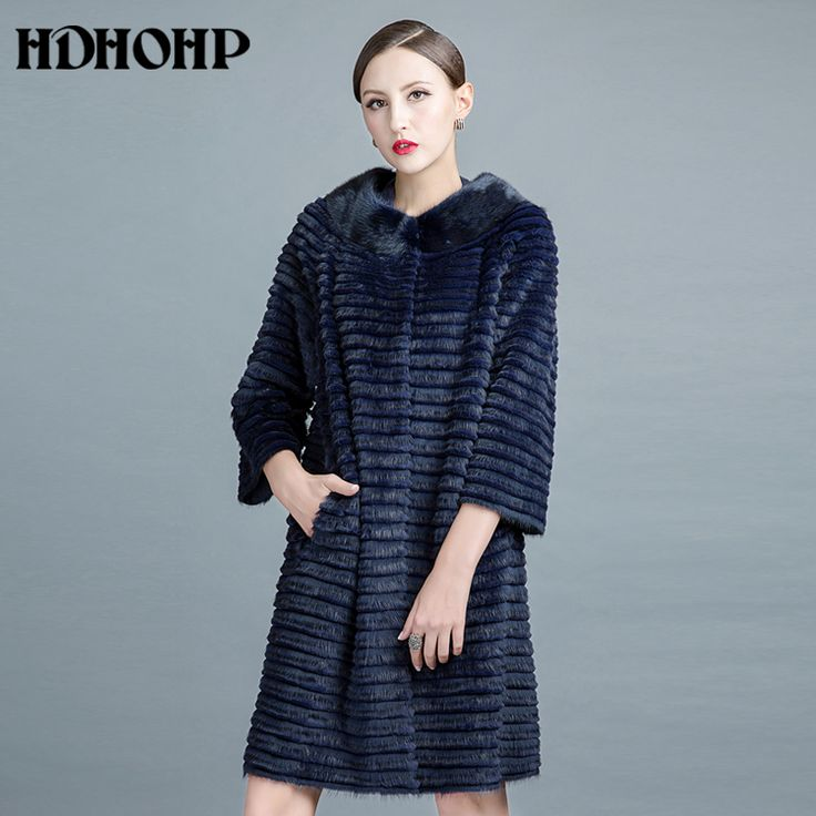 HDHOHP 2017 New Real Mink Fur Coat Women  Natural Kintted Mink Coats Winter Warm Fashion Fur Coats Long Mink Fur Jackets. Yesterday's price: US $1252.13 (1038.52 EUR). Today's price: US $550.94 (455.57 EUR). Discount: 56%.
