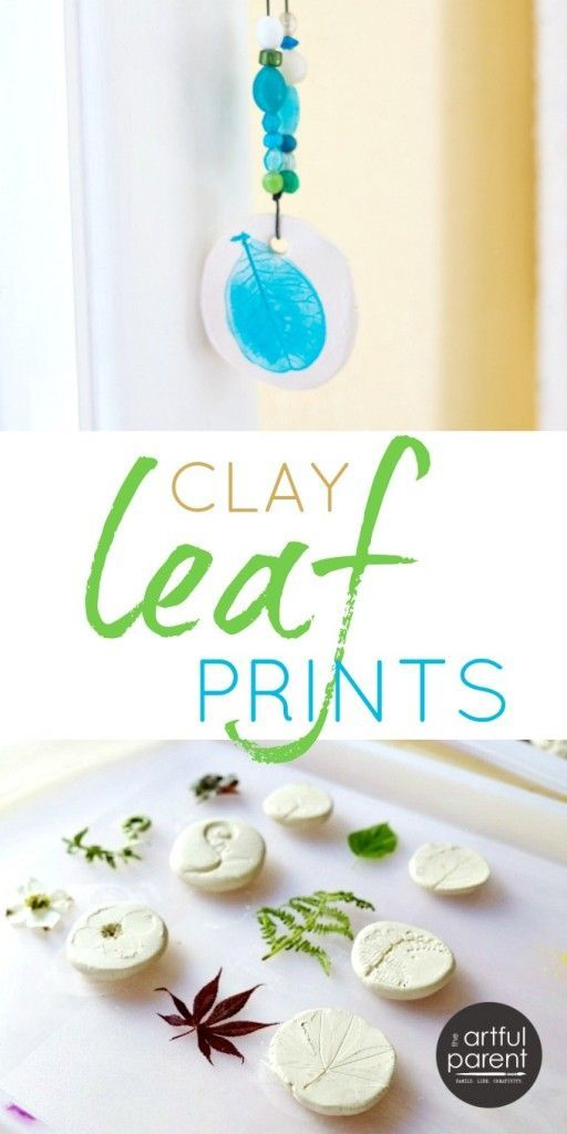 How to Make Clay Leaf Prints with Air Dry Clay