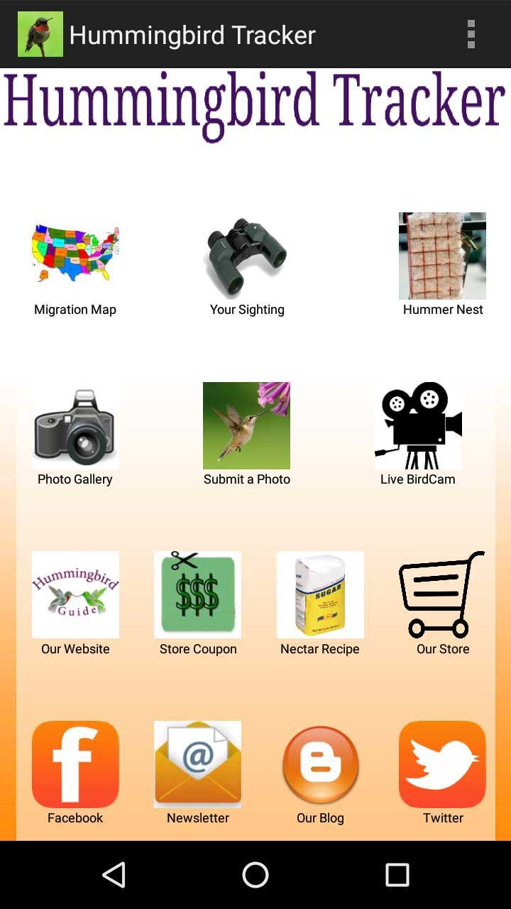 How to Track Hummingbird Migration on a map. Hummingbird Migration Mobile App Home