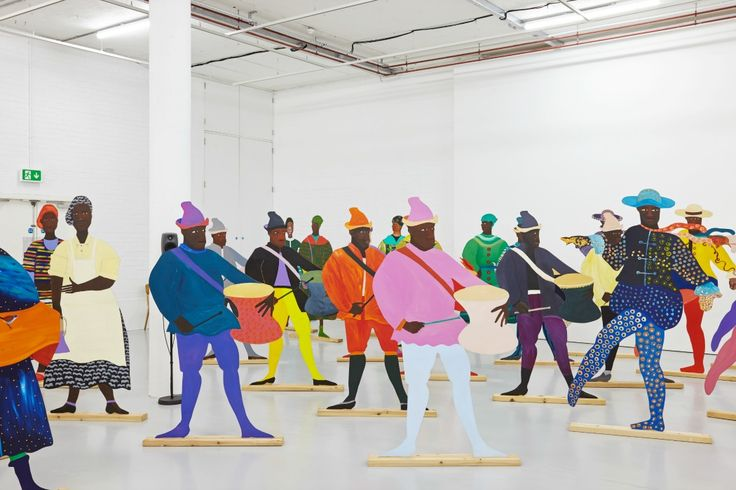 Lubaina Himid Naming the Money (2004) Installation view, Navigation Charts Spike Island (2017) Courtesy the artist, Hollybush Gardens and National Museums Liverpool: International Slavery Museum. Photograph by Stuart Whipps