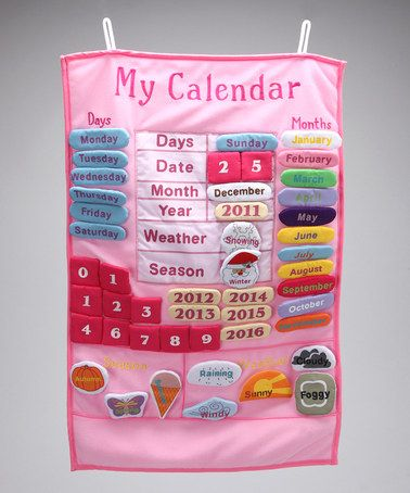 Take a look at this Pink 'My Calendar' Wall Hanging by Rosalina on #zulily today!