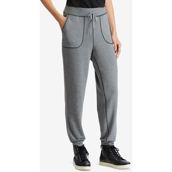 Lauren Ralph Lauren Petite Stretch Jogger Pants ($80) ❤ liked on Polyvore featuring activewear, activewear pants, grey, lauren ralph lauren, petite activewear pants, petite sportswear and petite activewear