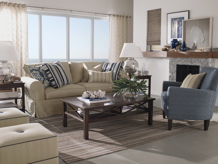 Coastal Shore Creations: Navy And White Coastal Living Rooms Part 56
