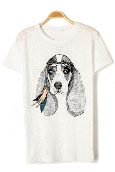 Cute Dog Graphic Tee OASAP.com