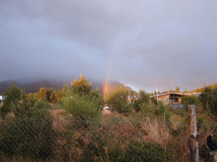 Arco Iris en el cerro ventana, otoño en #Bariloche