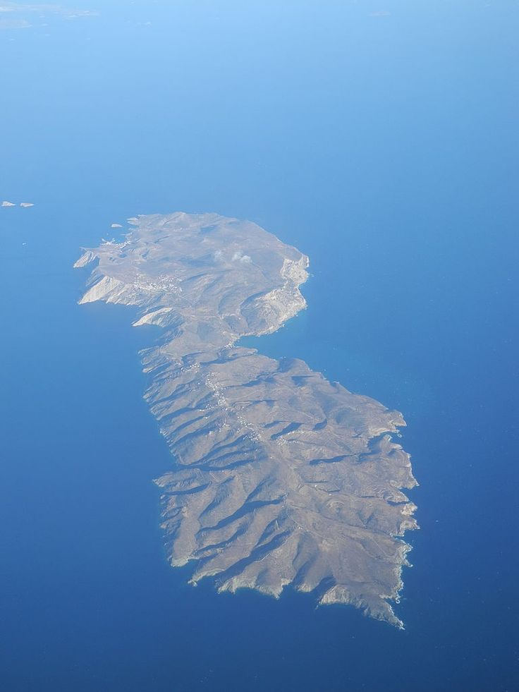 This is my Greece | Aerial view of Folegandros Island, Cyclades complex