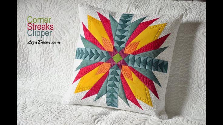 Patchwork - Kombinace pravítek Corner, Streaks, Clipper - LizaDecor #patchwork #quilt #lizadecor #pattern #vzory #šablony #tutorial #návod #video