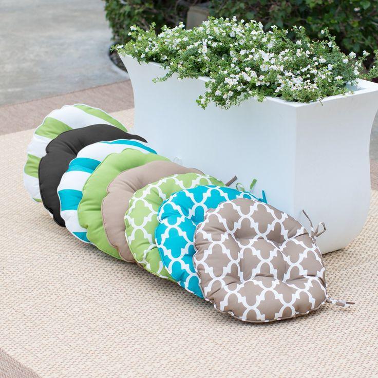 Round Bistro Outdoor Seat Cushion   Set Of 2 |