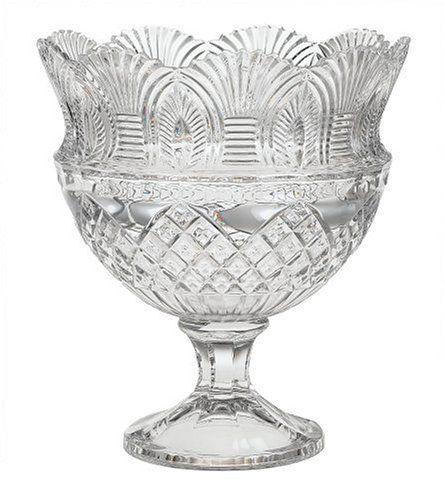 buy punch bowl godinger coquille crystal pedestal bowl
