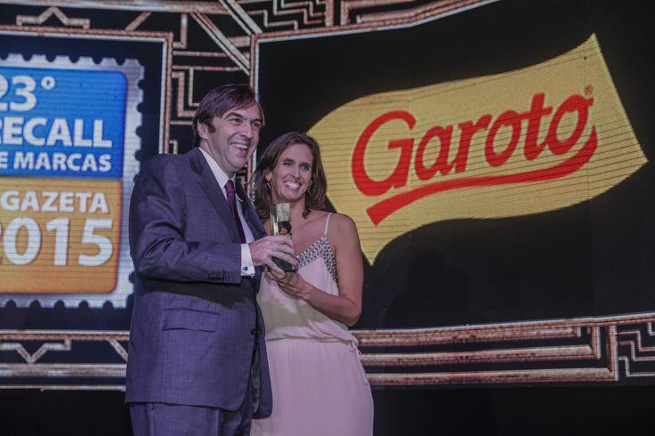 Conquistando o primeiro lugar na categoria #Chocolate, a Garoto foi a marca mais lembrada. #recalldemarcas2015 #crossmediarecall