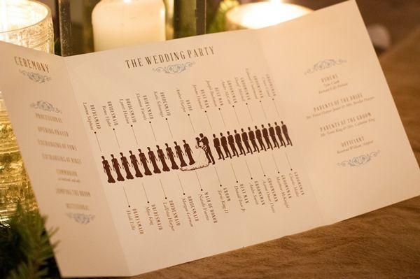Cute program! A Rustic-Chic Winter Themed Wedding in North Carolina - Munaluchi Bridal Magazine