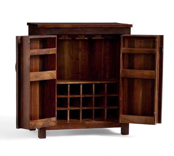 Bowry Bar Cabinet, Rustic Reclaimed