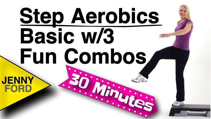 3/14  34 min.  Step Aerobics Basic w/3 Fun Combos