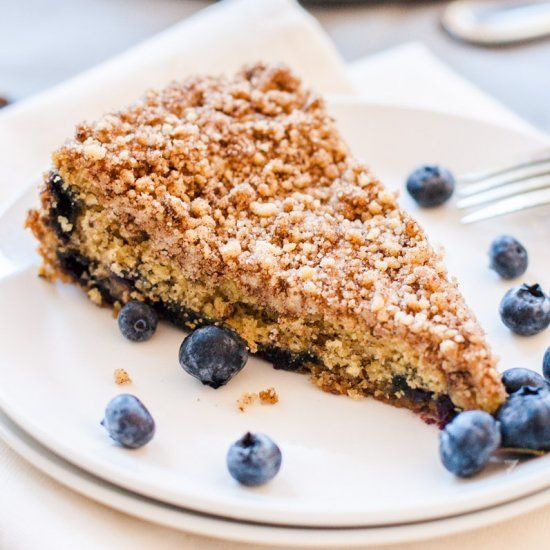 Mostly Healthy Cinnamon Blueberry Coffeecake - you'd never, ever know it's 100% whole wheat and vegan.