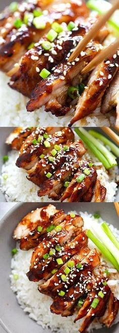 Soy-Glazed Chicken  Soy-Glazed Chicken  the best soy-glazed...  Soy-Glazed Chicken  Soy-Glazed Chicken  the best soy-glazed chicken recipe ever. Made with soy sauce honey and rice vinegar this sticky and savory chicken is crazy good | rasamalaysia.com