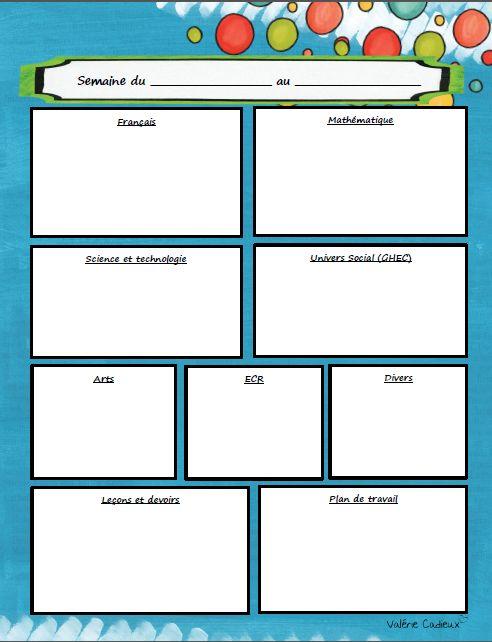 La classe de Madame Valérie: Planification et fêtes