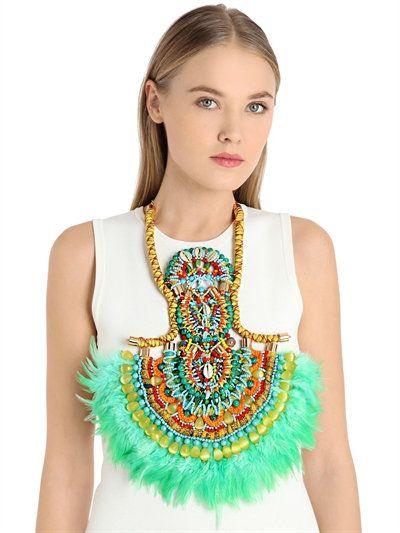 Kandiya feather necklace by Anita Quansah London