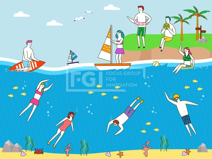 SILL229, 프리진, 일러스트, 생활, 여행, 라이프스타일, 라이프, 벡터, 에프지아이, 사람, 남자, 여자, 단체, 캐릭터, 서있는, 라인, 심플, 패턴, 무늬, 문양, 여름, 전신, 앉아있는, 바다, 섬, 바닷속, 서핑보드, 배, 요트, 교통, 비치볼, 잠수, 스쿠버, 수영, 수영복, 비키니, 튜브, 게, 조개, 모래, 돌, 바위, 미력, 산호, 불가사리, 이정표, 안내판, 새, 동물, 갈매기, 구름, 물고기, 생선, 물방울, 고글, 물안경, 수경, 오리발, 열대, 열대지방, 나무, 야자수, 식물, 바캉스, 휴가, illust, illustration #유토이미지 #프리진 #utoimage #freegine 19992370