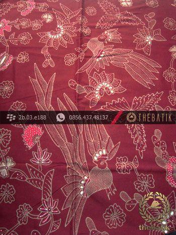 Kain Batik Tulis Jogja Motif Buketan Cendrawasih Maroon | Unique #Indonesia #Batik #Fabric Pattern Design http://thebatik.co.id/kain-batik-bahan/