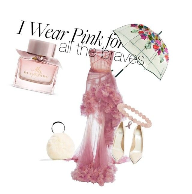 """Pink for every spirit"" by bernadett-soos on Polyvore featuring Burberry, Vera Bradley, Marchesa and Francesco Russo"