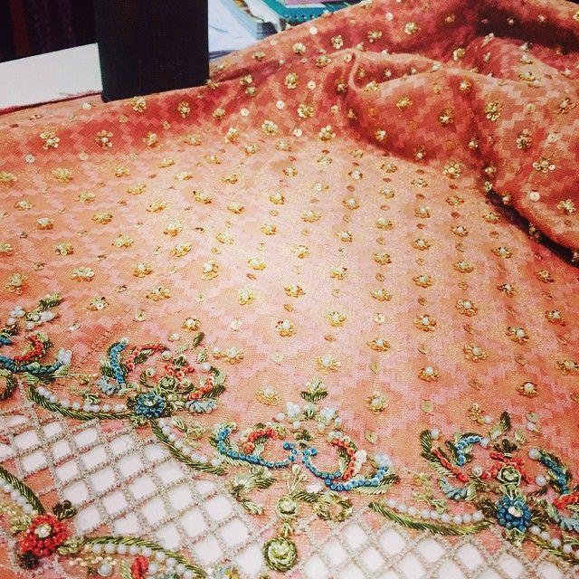 Detail therapy❤️#floralgoddess#loveit #umshabyuzmababar#sneakpeeks #allhandwork#intricate#resham#pearls #pastel#comingsoon