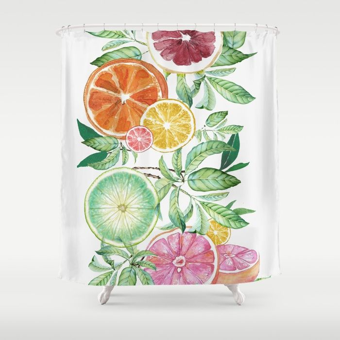 Buy Citrus Fruit Shower Curtain By Nadja1 Worldwide Shipping