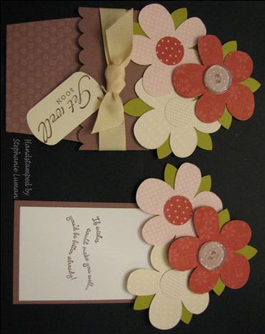 flower pull out card tutorial