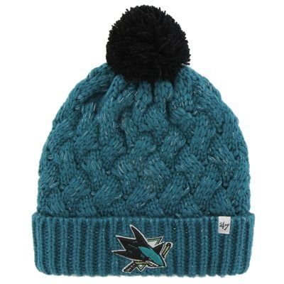 Womens San Jose Sharks '47 Brand Teal Fiona Knit Beanie #MyNHLWishListSweeps